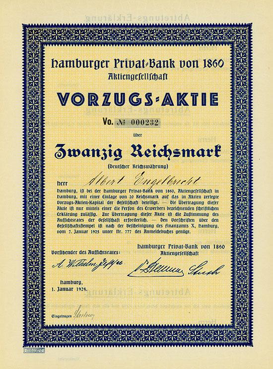 Hamburger Privat-Bank von 1860 AG