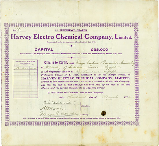 Harvey Electro Chemical Company, Limited