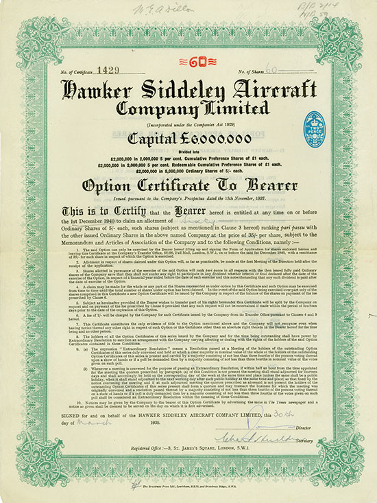 Hawker Siddeley Aircraft Company Limited