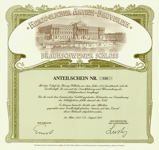 Herzoglicher Aktien-Bauverein Braunschweiger Schloss