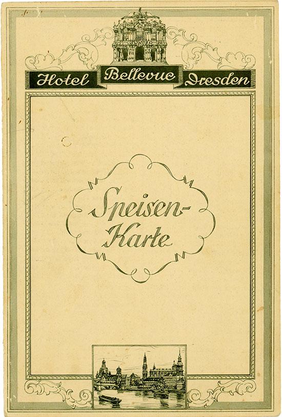 Hotel Bellevue Dresden - Speisen-Karte