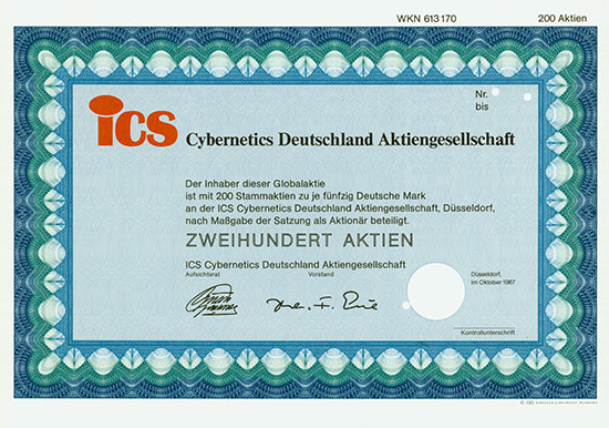 ICS Cybernetics Deutschland AG