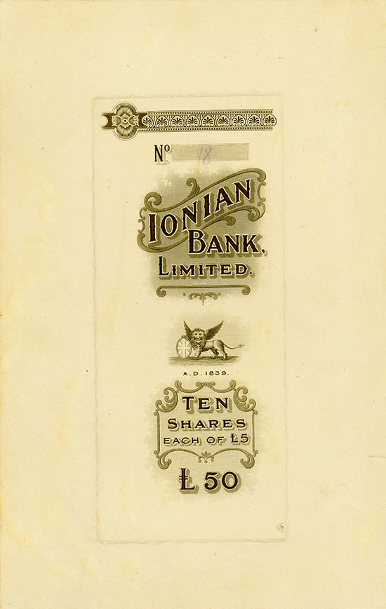 Ionian Bank, Limited
