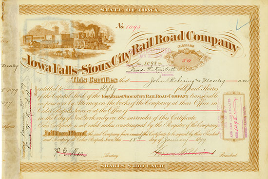 Iowa Falls & Sioux City Rail Road Company