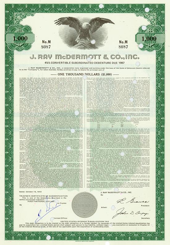 J. Ray McDermott & Co., Inc.
