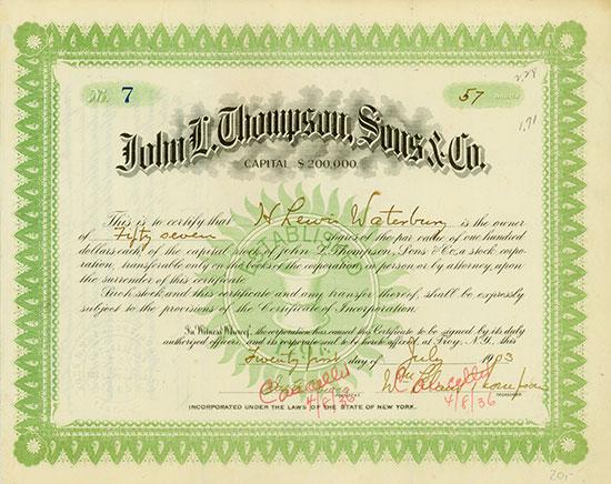 John L. Thompson, Sons & Co.