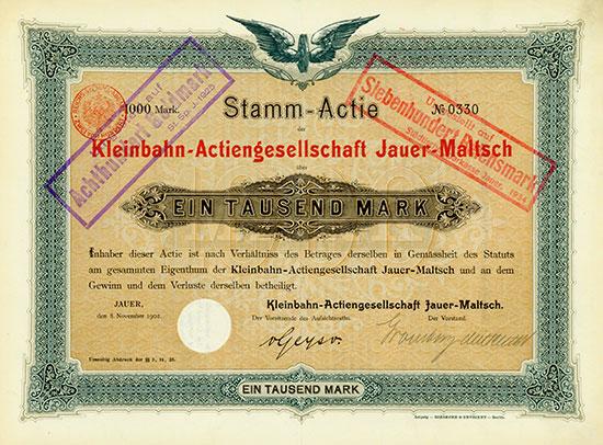 Kleinbahn AG Jauer-Maltsch