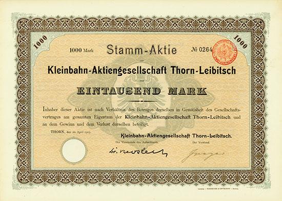 Kleinbahn-Aktiengesellschaft Thorn-Leibitsch