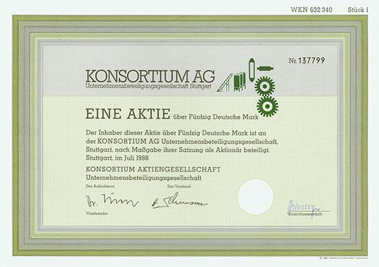 Konsortium AG Unternehmensbeteiligungsgesellschaft