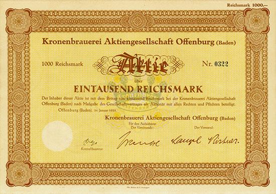 Kronenbrauerei AG Offenburg (Baden)