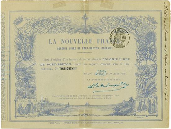 La Nouvelle France Colonie Libre de Port-Breton (Océanie)