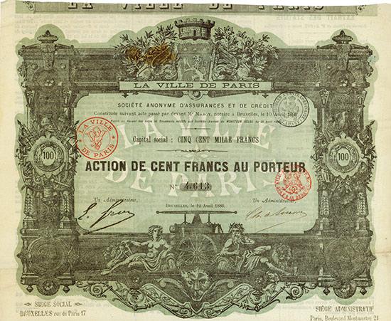 La Ville de Paris - Société Anonyme d'Assurances et de Crédit