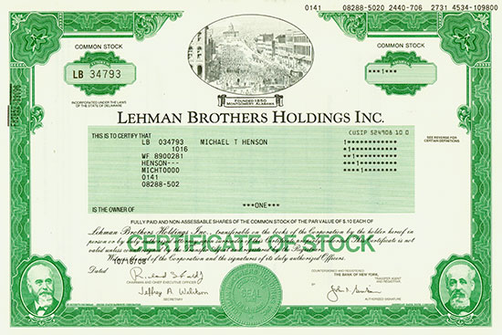 Lehman Brothers Holdings Inc.