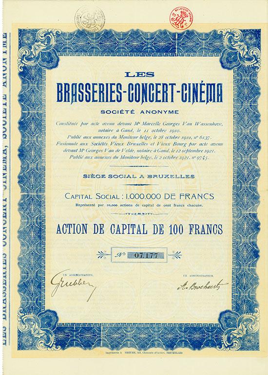 Les Brasseries-Concert-Cinéma Société Anonyme