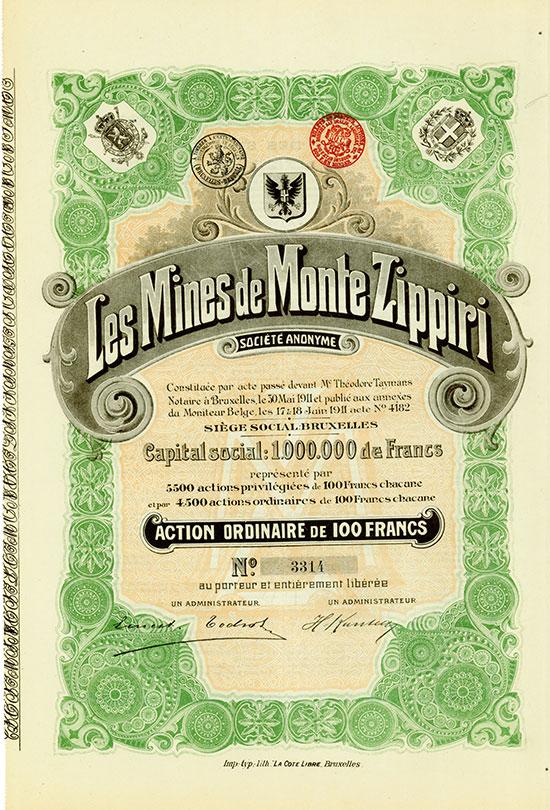 Les Mines de Monte Zippiri Société Anonyme [2 Stück]