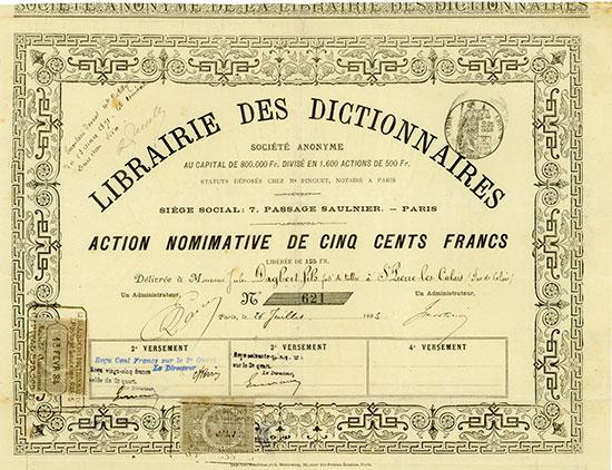 Librairie des Dictionnaires Société Anonyme