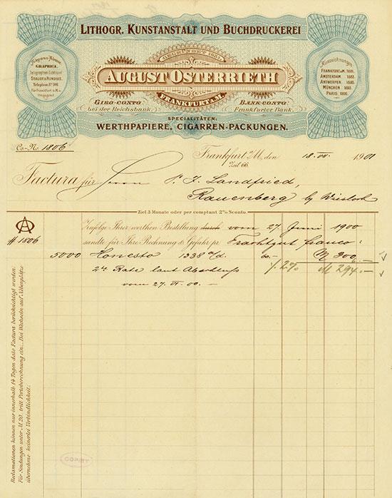 Lithogr. Kunstanstalt und Buchdruckerei August Osterrieth