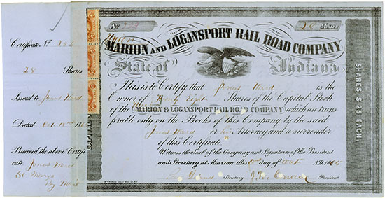 Marion (Union) and Logansport Rail Road Company