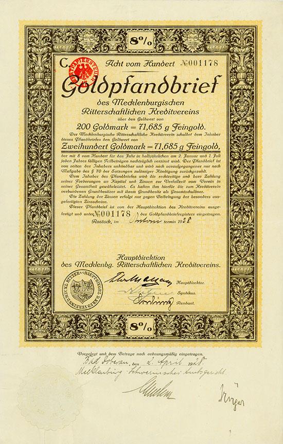 Mecklenburgischer Ritterschaftlicher Kreditverein