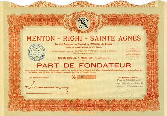 Menton-Righi-Sainte Agnès