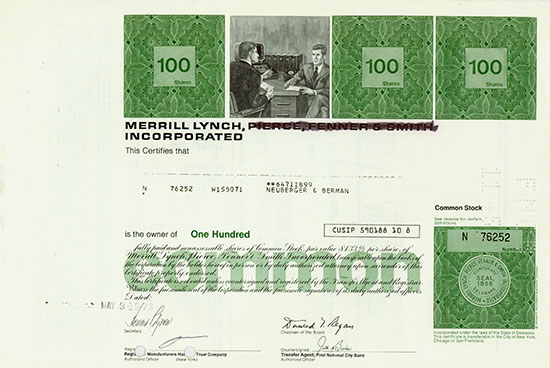 Merrill Lynch, Pierce, Fenner & Smith Incorporated