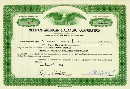 Mexican-American Habanero Corporation