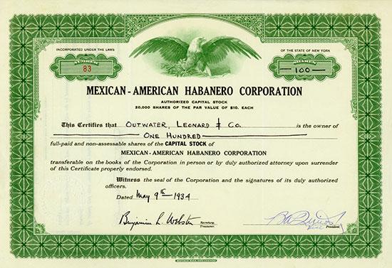 Mexican-American Habanero Corporation