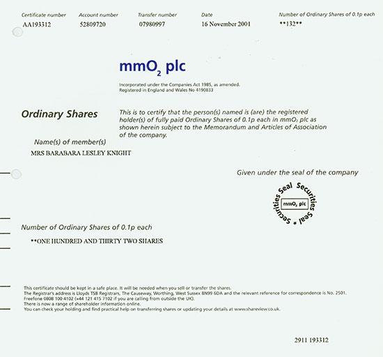mmO2 plc