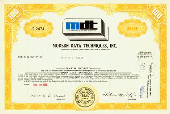 Modern Data Techniques, Inc.