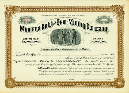 Montana Gold and Gem Mining Company