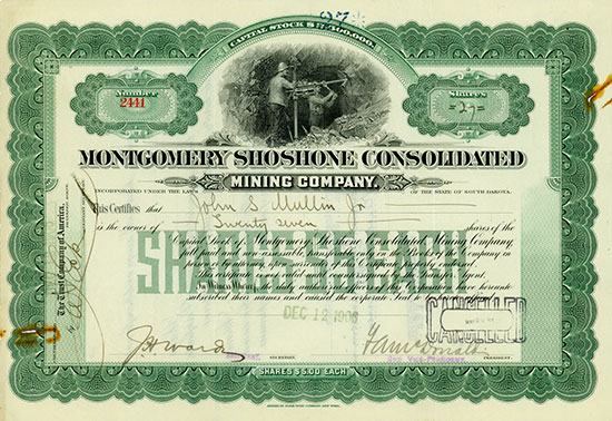 Montgomery Shoshone Consolidated Mining