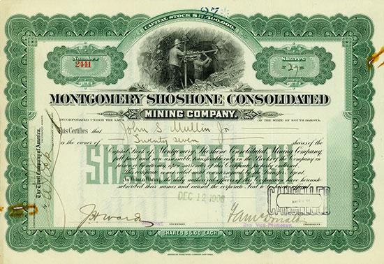 Montgomery Shoshone Consolidated Mining