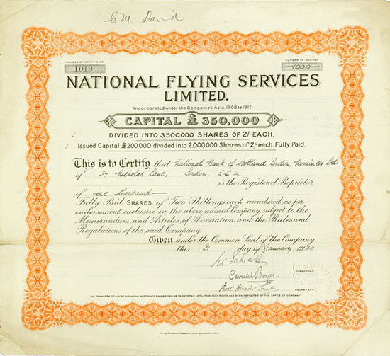 National Flying Services Limited