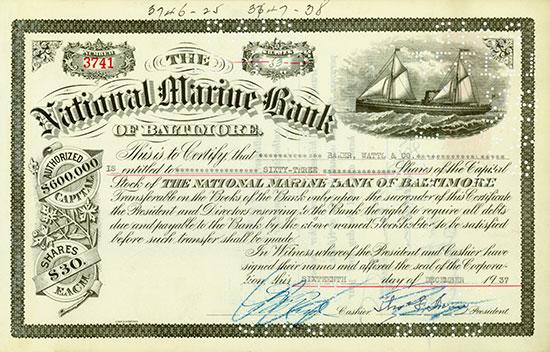 National Marine Bank of Baltimore