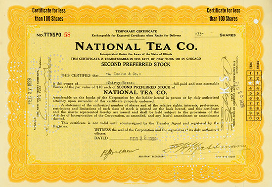 National Tea Co. [2 Stück]