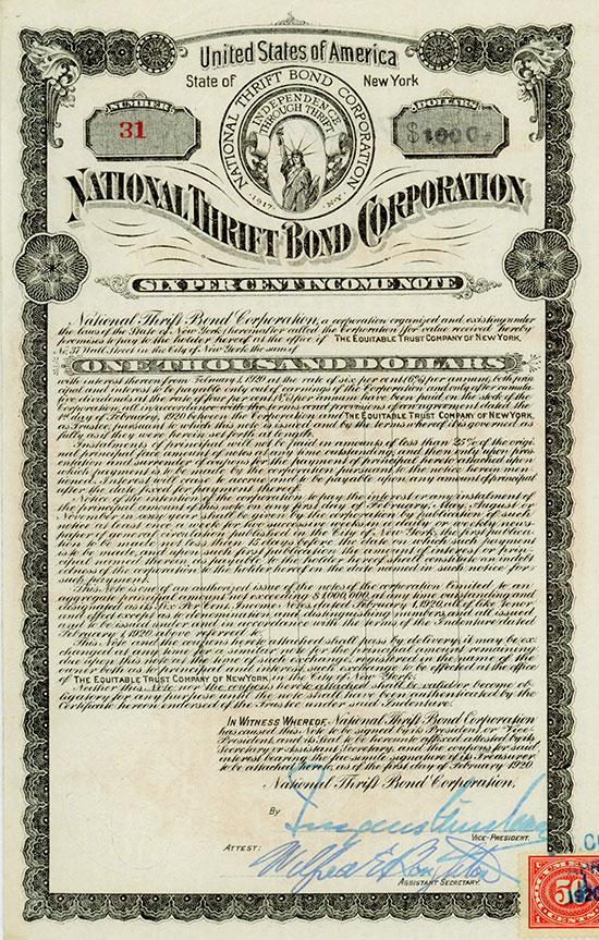 National Thrift Bond Corporation