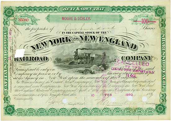 New York and New England Railroad Company