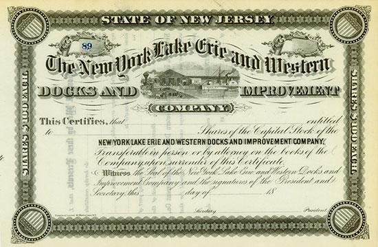 New York Lake Erie & Western Docks & Improvement Company