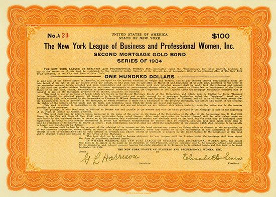 New York League of Business and Professional Women, Inc. [2 Stück]