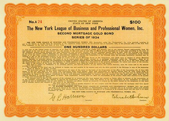 New York League of Business and Professional Women, Inc. [2 Stück]