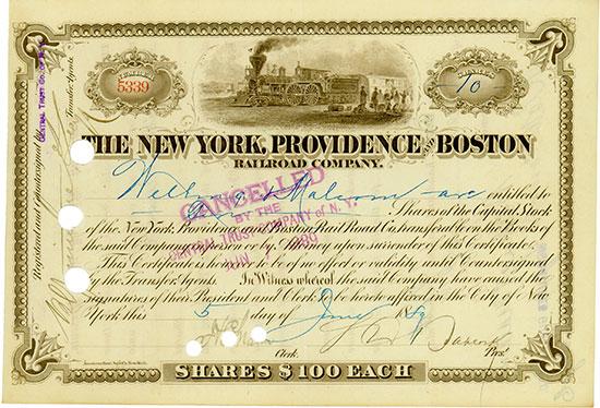 New York, Providence and Boston Railroad Company