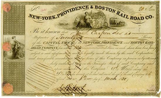 New-York, Providence & Boston Rail Road Co.