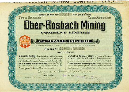 Ober-Rosbach Mining Company Limited