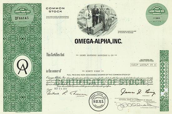 Omega-Alpha, Inc.