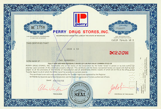 Perry Drug Stores, Inc.