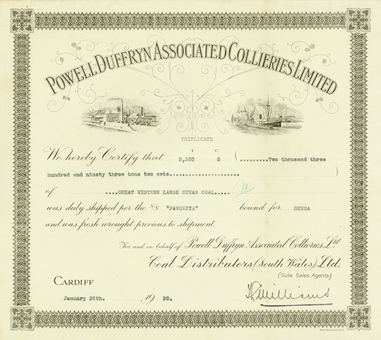 Powell Duffryn Associated Collieries Limited