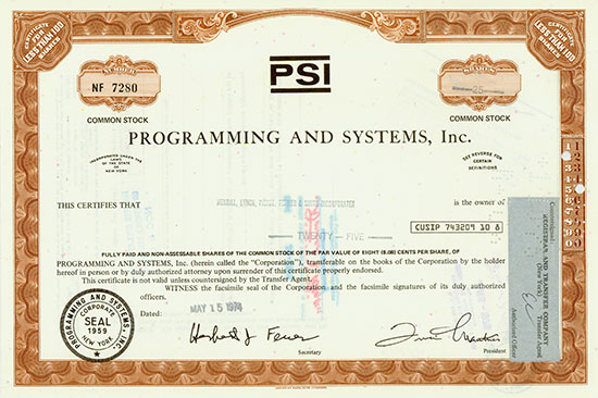 Programming and Systems, Inc.