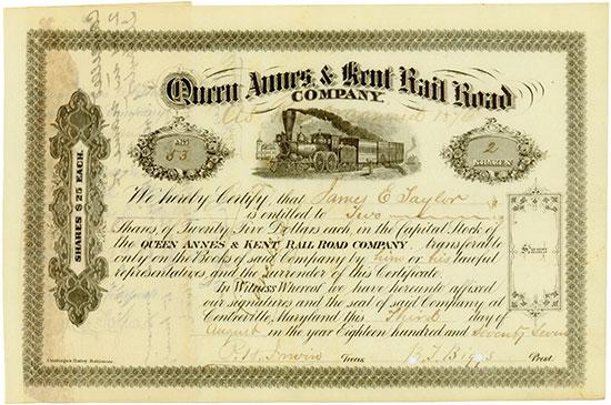 Queen Annes & Kent Rail Road Company