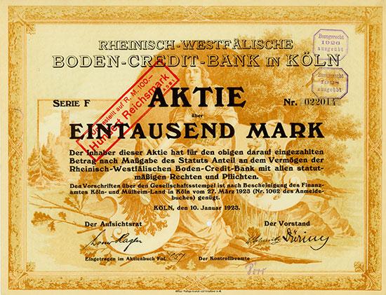 Rheinisch-Westfälische Boden-Credit-Bank in Köln