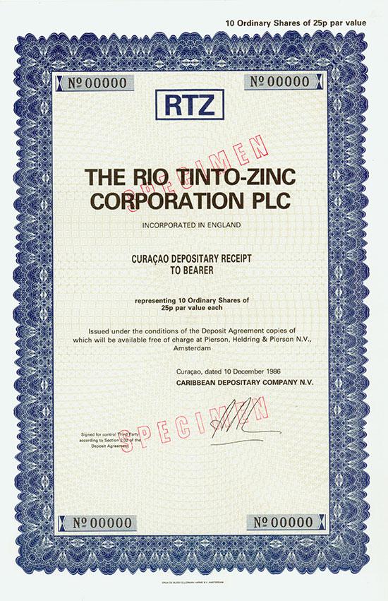 Rio Tinto-Zinc Corporation Plc